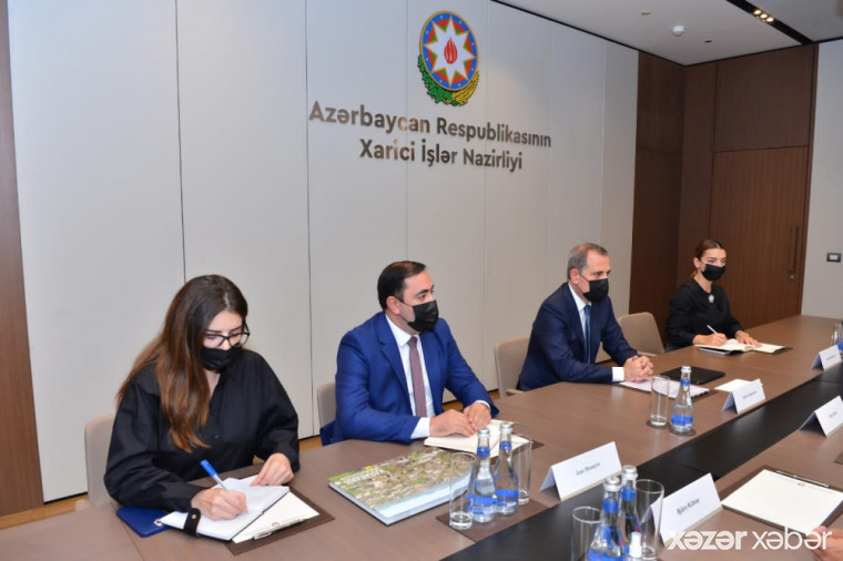 Ceyhun Bayramov Avropa İttifaqının xüsusi nümayəndəsi ilə görüşüb