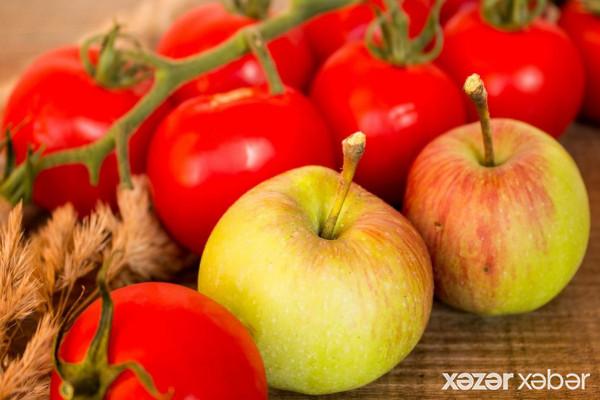 Azərbaycanın 55 şirkətinə Rusiyaya alma və pomidor tədarükünə icazə verilib