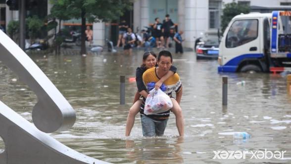 Çində fəlakət: 200 min insan köçürüldü VİDEO