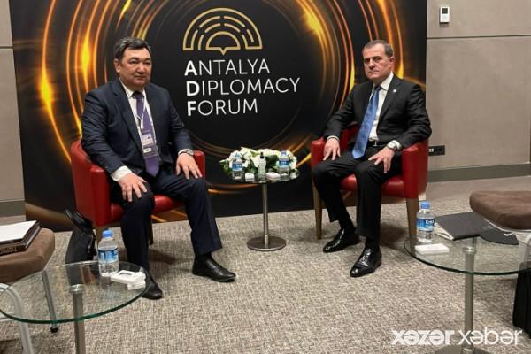 Ceyhun Bayramov Antalyada Beynəlxalq Türk Akademiyasının prezidenti ilə görüşüb
