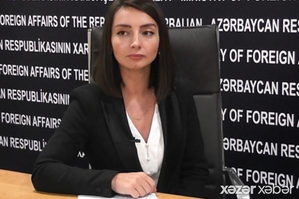 Leyla Abdullayeva: Ermənistanın iddiaları tamamilə əsassızdır