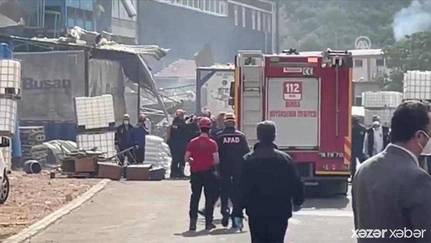 Türkiyədə fabrikdə güclü partlayış baş verib