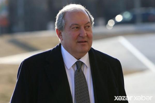 Sarkisyan erməni xalqına müraciət etdi